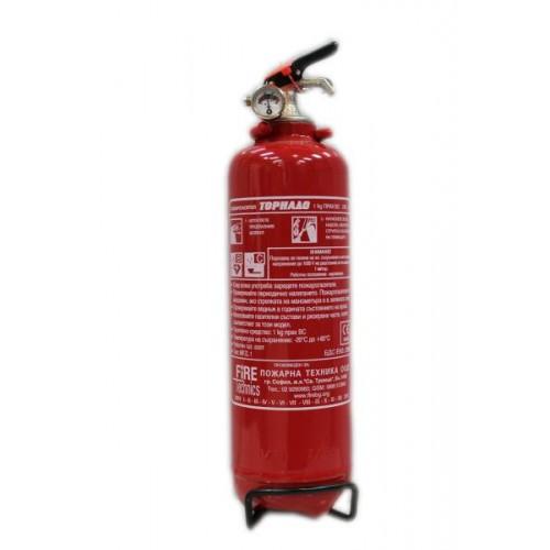 Прахов пожарогасител 1 кг. АВС за кола