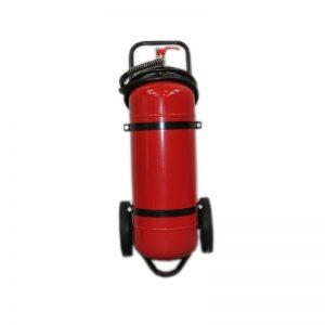 Прахов пожарогасител 50 кг. АВС - возим - количка